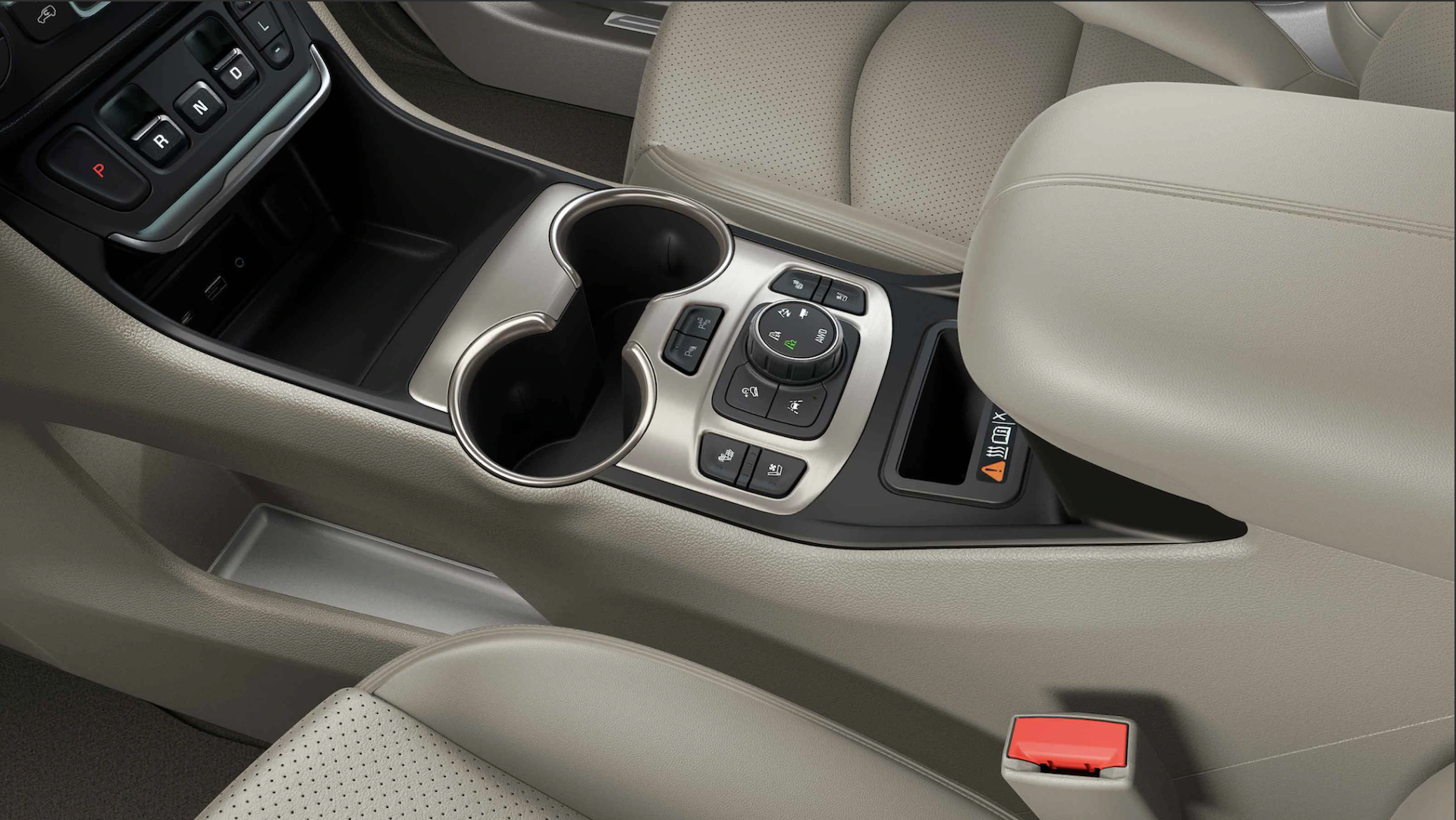Middle console of the 2021 GMC Terrain