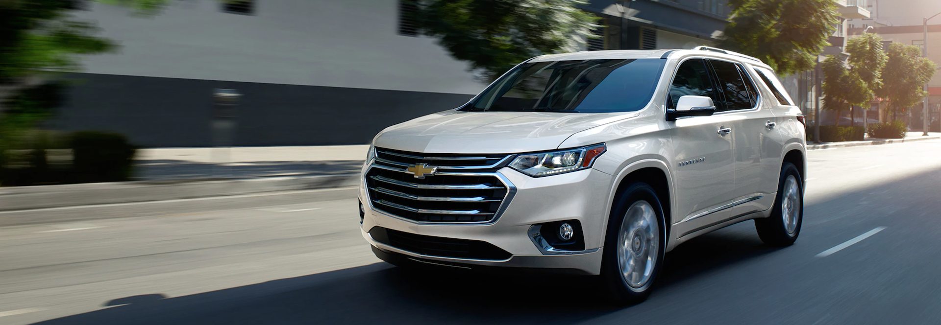 Front view picture of the New 2021 Chevy Traverse SUV