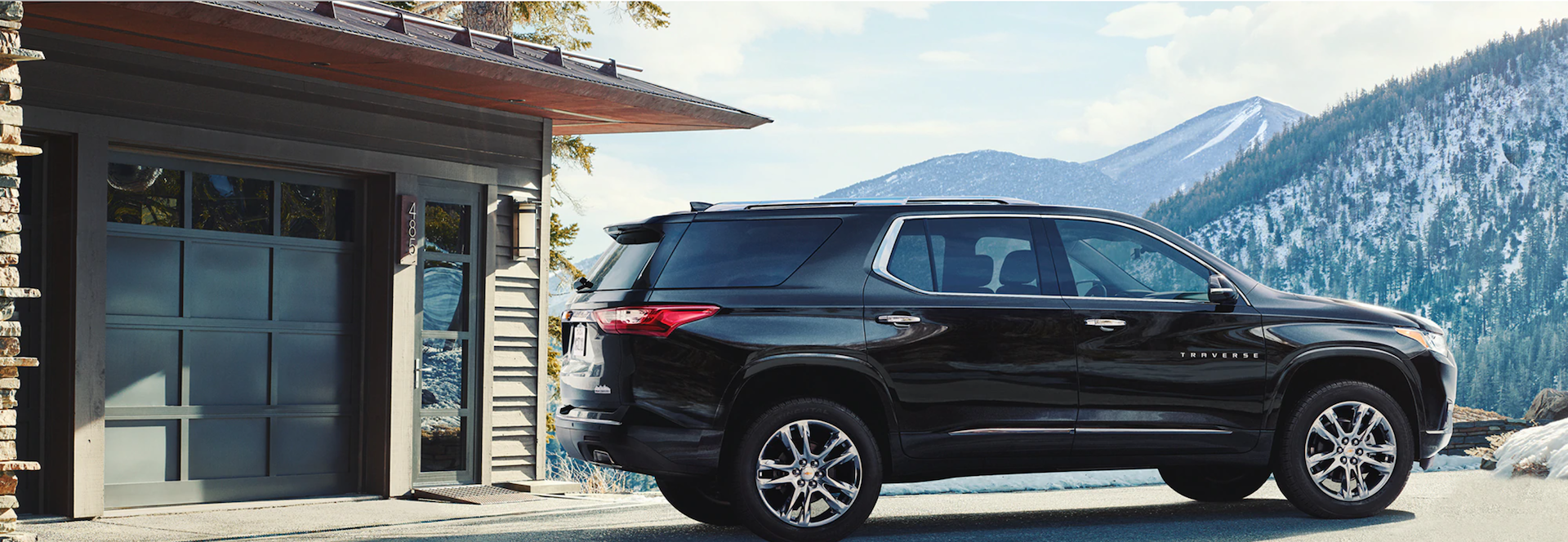 Picture of the back side of the 2021 Chevy Traverse.