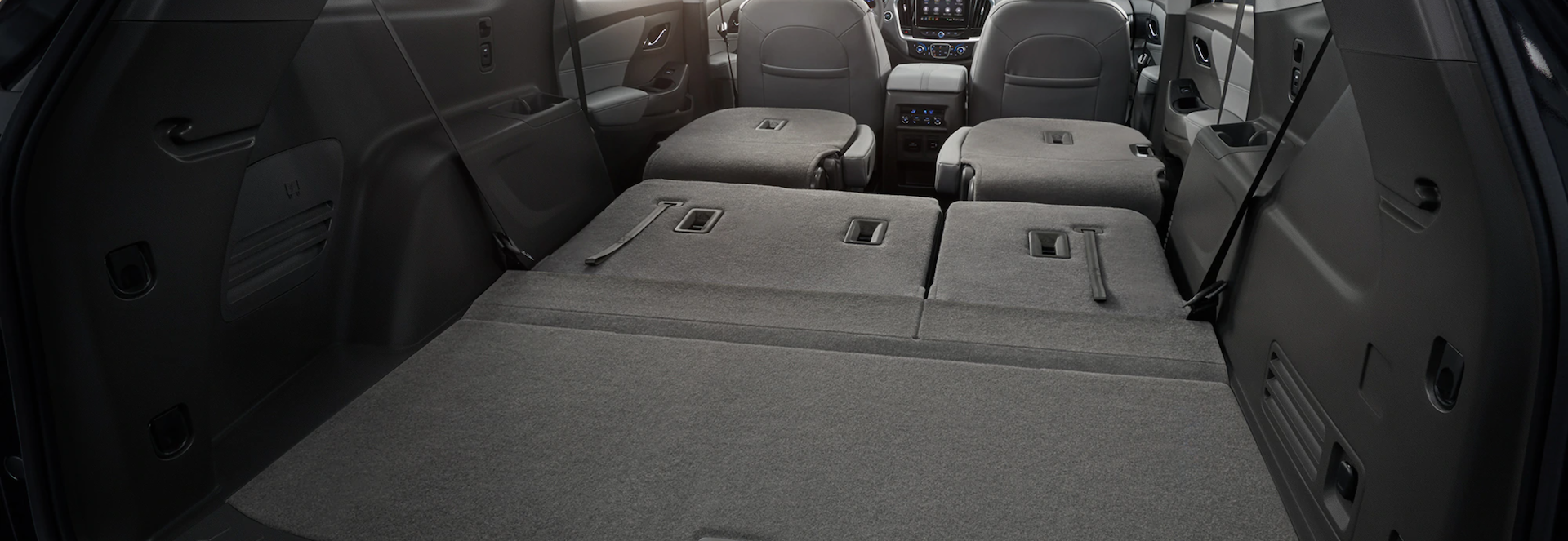 Fold down seats in the New Chevy Traverse SUV