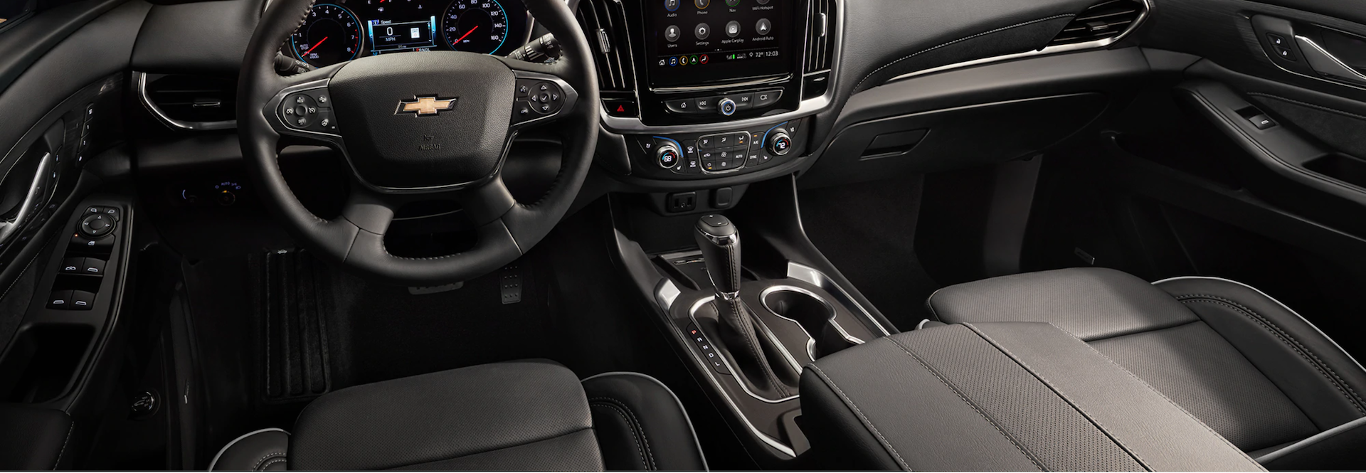 Picture of the interior view of the New 2021 Chevrolet Traverse