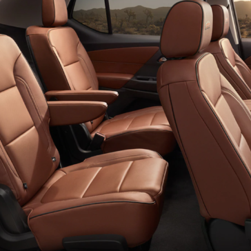 Picture of the leather seats in the 2021 Traverse