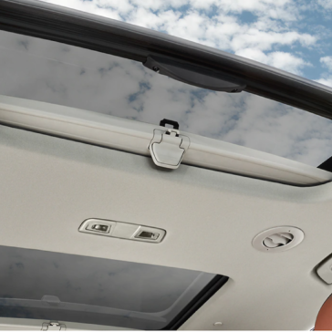 The new Traverse SUV has a panoramic moonroof
