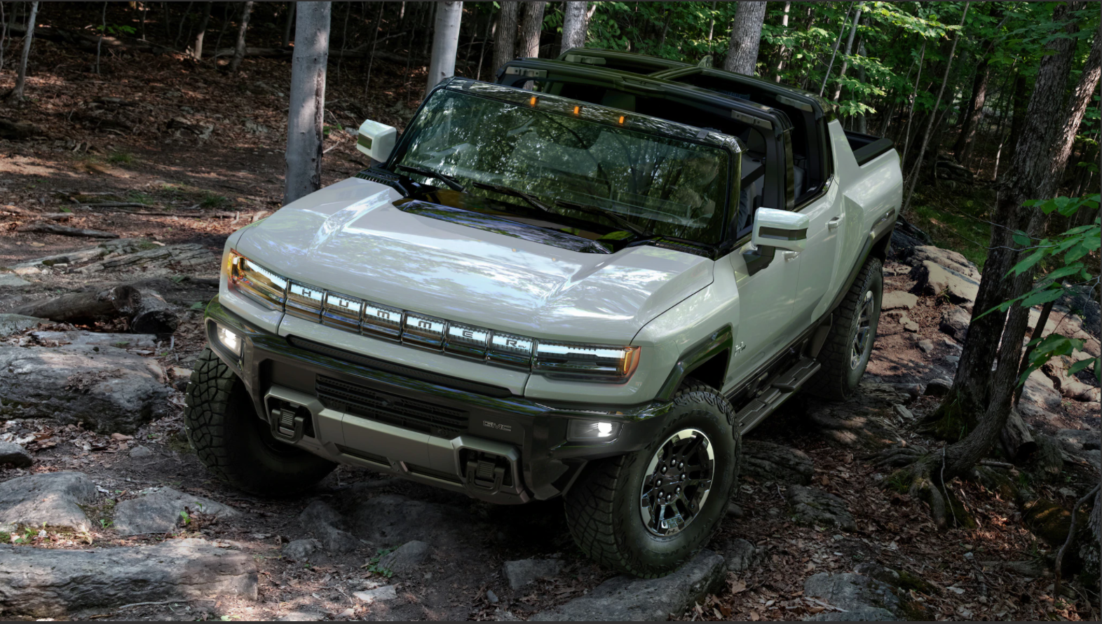 The GMC Hummer can go offroad anywhere
