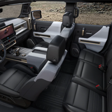 Overhead view of the GMC Hummer interior