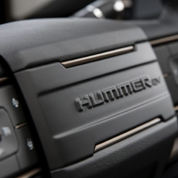 Picture of the Hummer's steering wheel