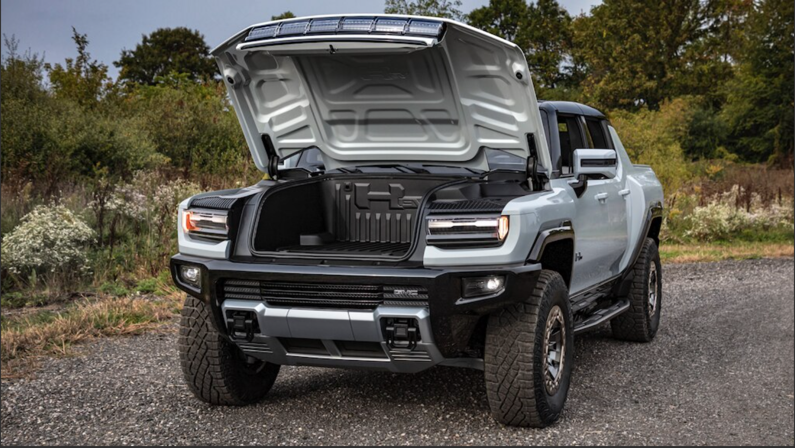 Get a look under the hood of the New GMC Hummer