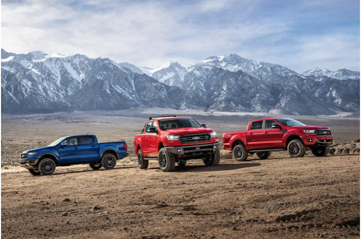 Different variations of 2020 Ford Ranger trucks are available at Sewell Ford.