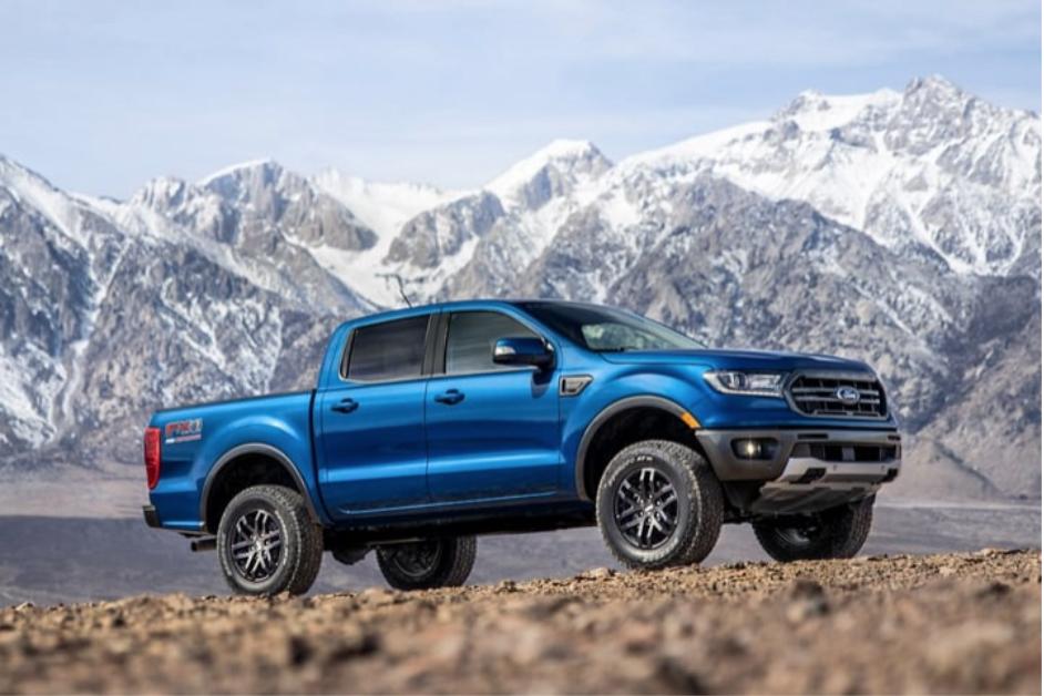 Blue 2020 Ford Ranger in Midland, TX.