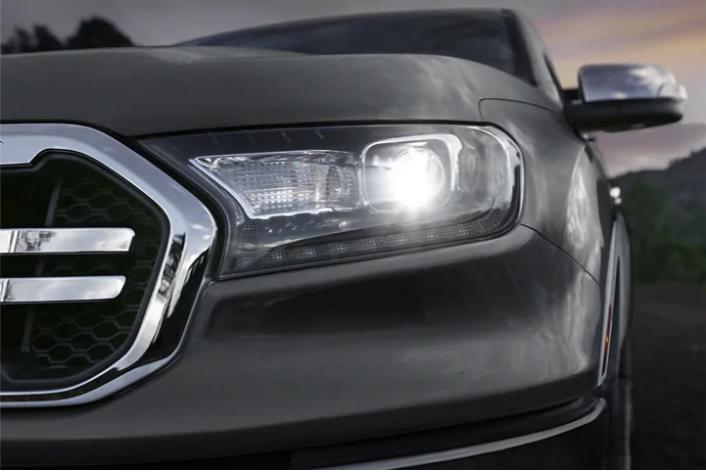 Headlight of the New Ford Ranger