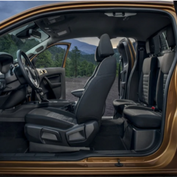 The interior view of the New Ford Ranger