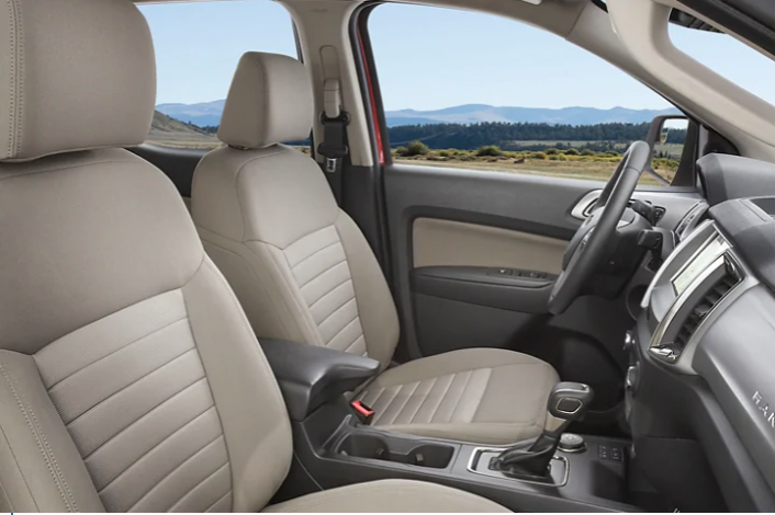 Interior view of the 2020 Ford Ranger view