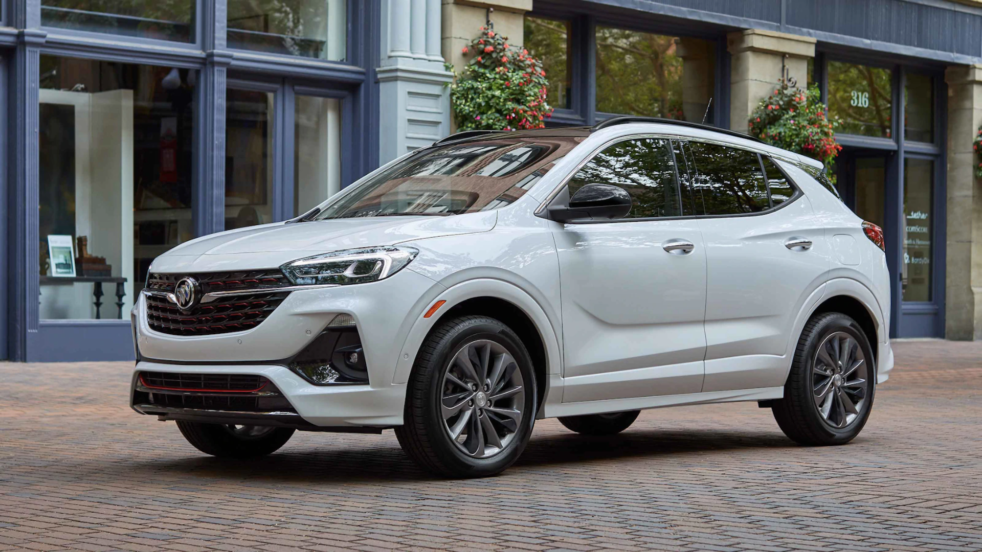 White 2021 Buick Encore GX available at Team Sewell Buick Dealership.