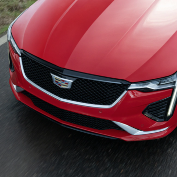Picture of the hood of the New 2021 Cadillac CT4