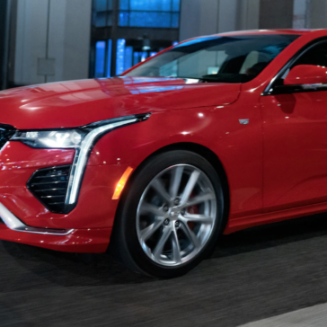 The 2021 Cadillac CT4 in Odessa, TX at Sewell Cadillac.