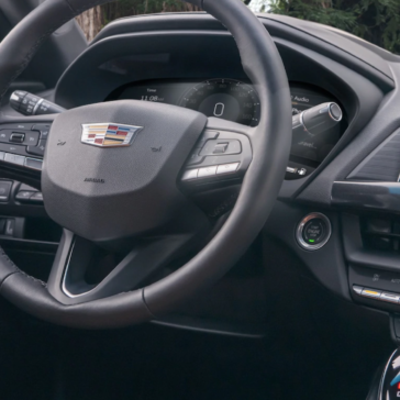 Interior view of the New Cadillac CT4 luxury vehicle