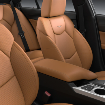 Seating in the new 2021 Cadillac CT4