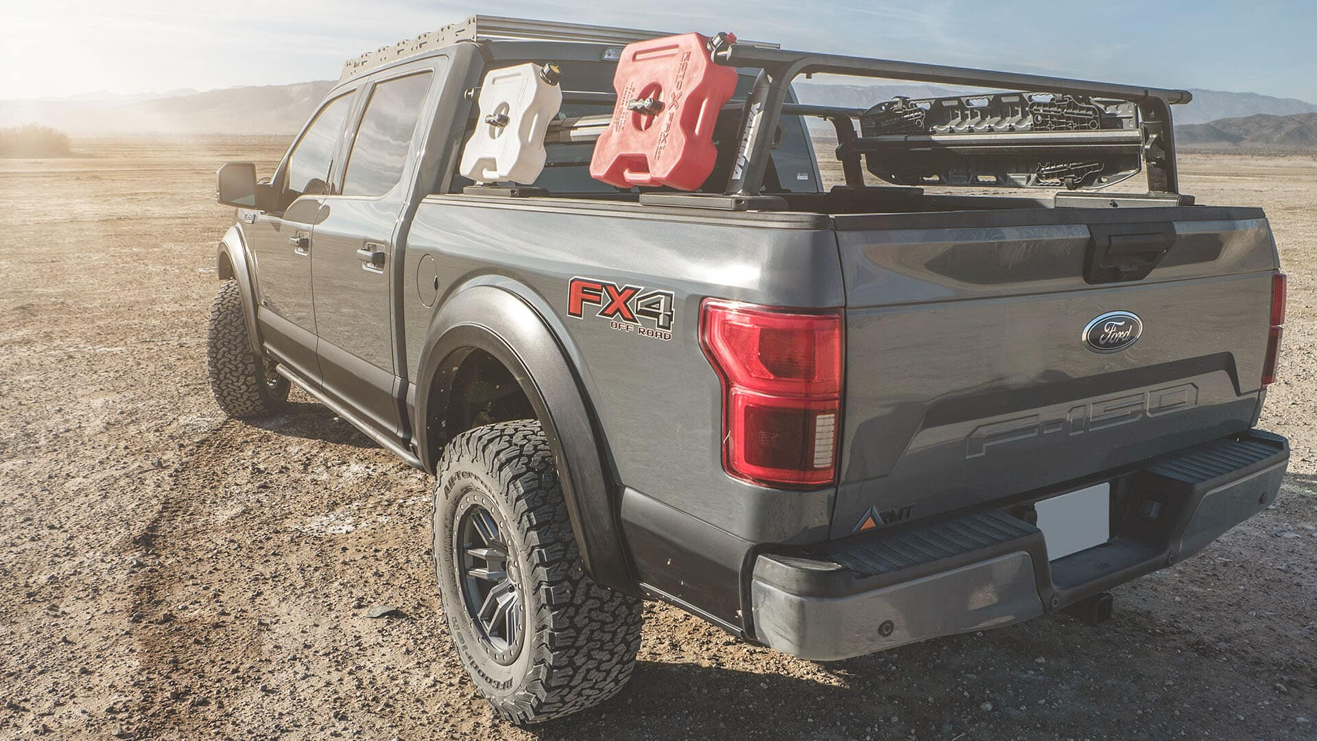 Sewell Ford RMT Overland Dealer in Midland, Texas F-150 Magnetic Grey Rear End