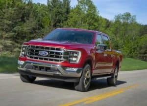 Picture of the New Ford F-150 in Odessa, TX