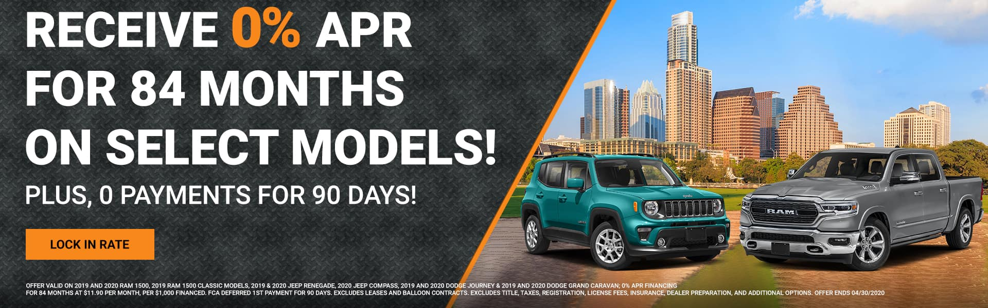 0%APR for 84 Months on Select Models