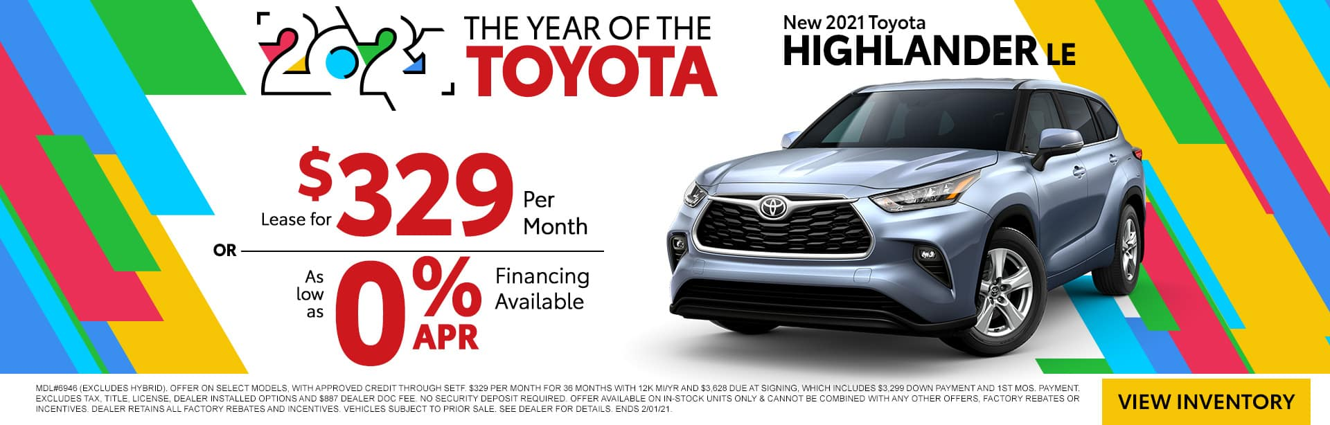 NEW 2021 TOYOTA HIGHLANDER LE | THE YEAR OF THE TOYOTA