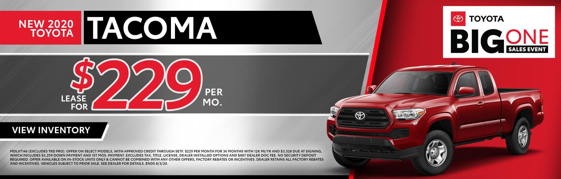 New 2020 Toyota Tacoma at Toyota of Fort Walton Beach!