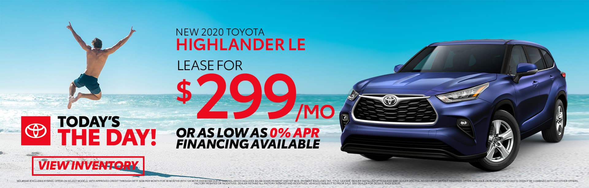 New 2020 Toyota Highlander LE at Toyota of Fort Walton Beach!