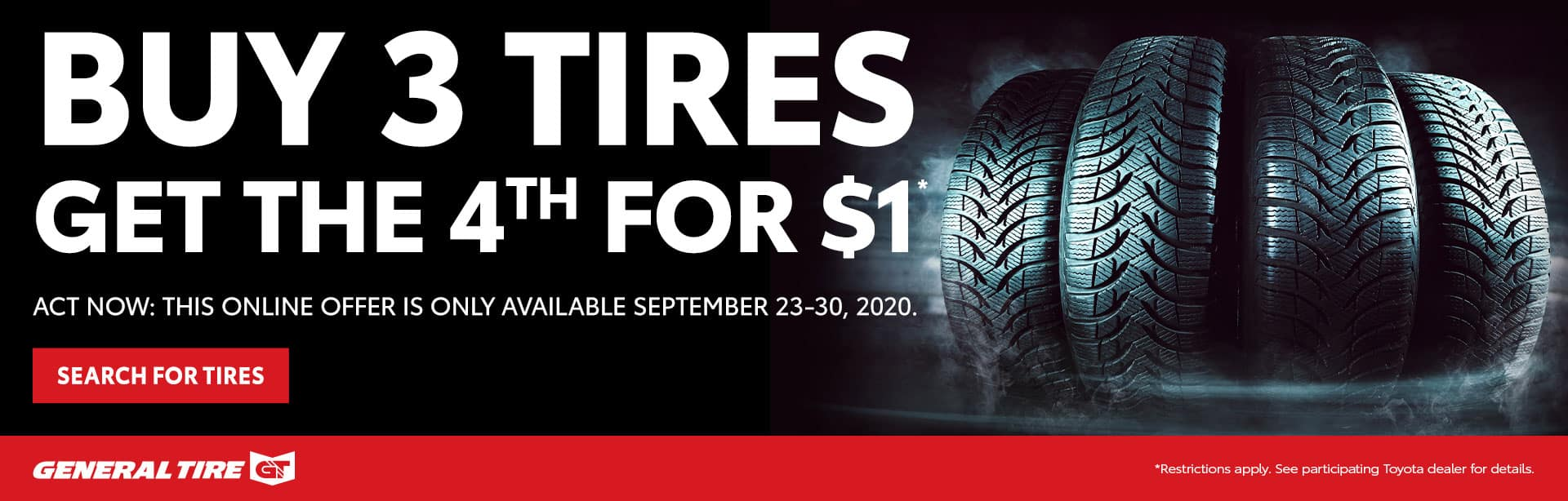 Buy 3 Tires Get 1 Free at Toyota of Fort Walton Beach
