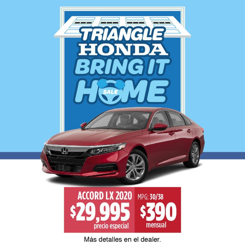 ¡¡¡Honda Accord LX 2020 $390 Mensual!!!