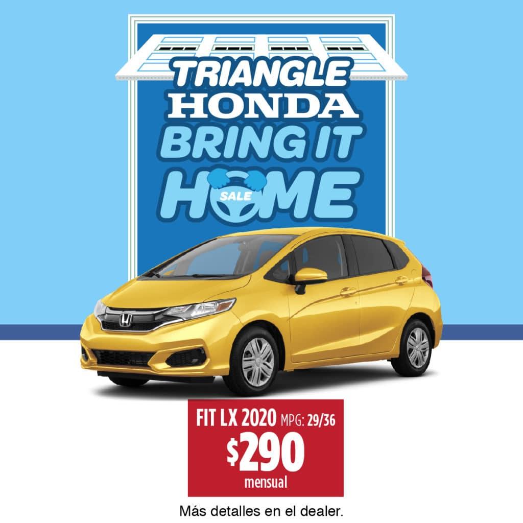 ¡¡¡Honda Fit LX 2020 $290 Mensual!!!