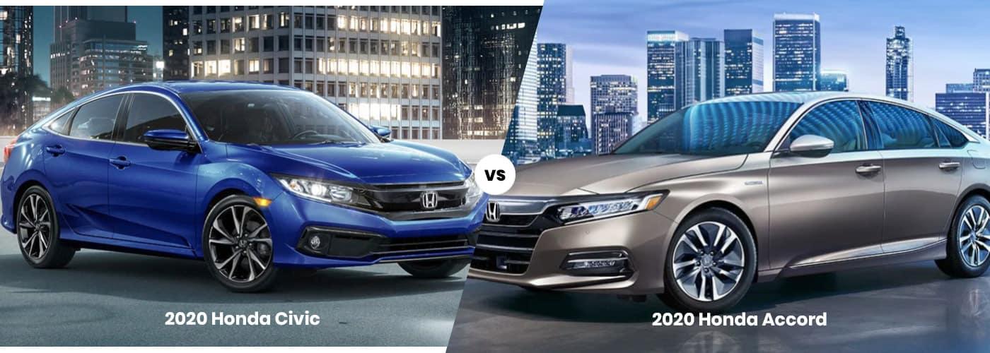 2929 Honda Civic vs. 2020 Honda Accord