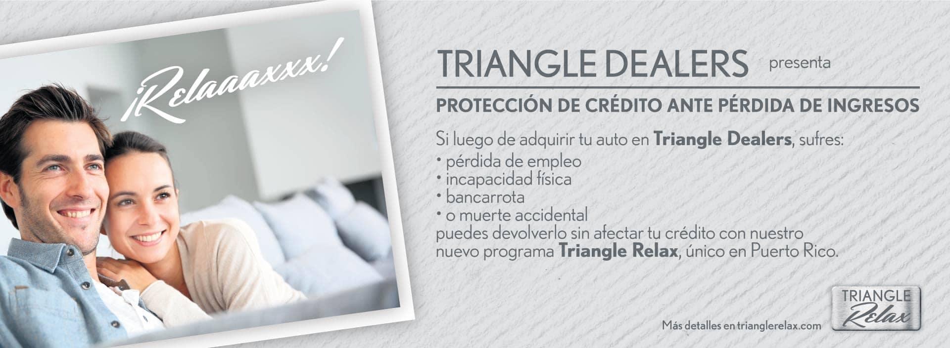 Triangle Nissan Banner - Proteccion de credito ante perdida de ingresos