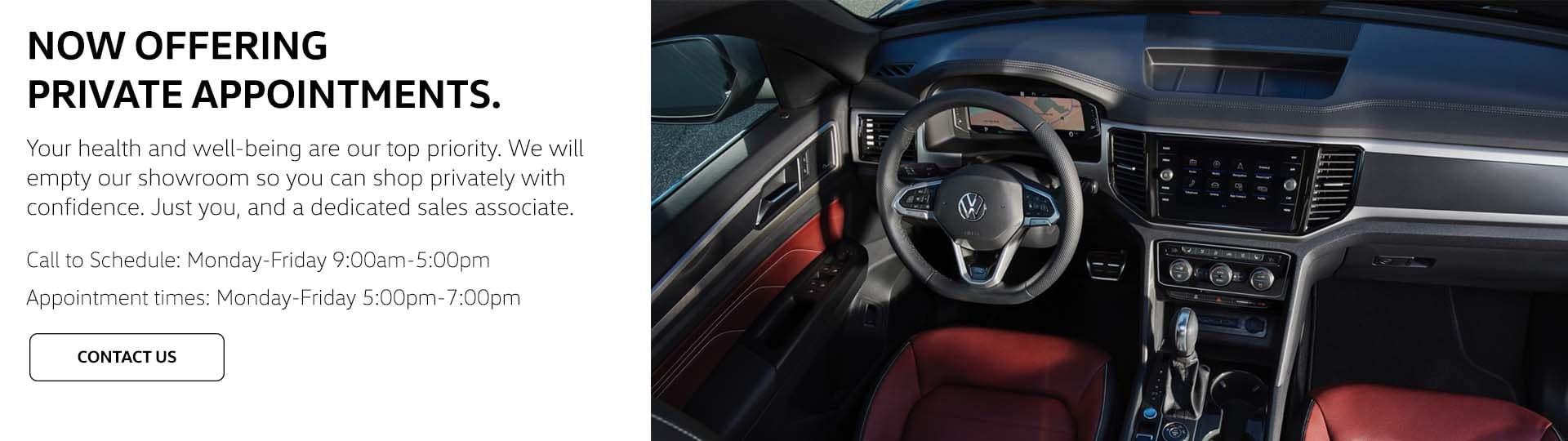 Volkswagen South Coast Appointment Slide