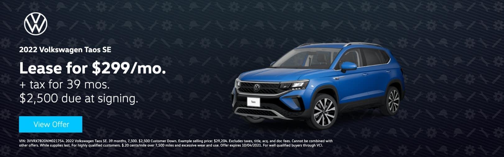 Volkswagen South Coast_test_website_3vvrx7b20nm021754_1622 x 508_2022_volkswagen_taos_se__0