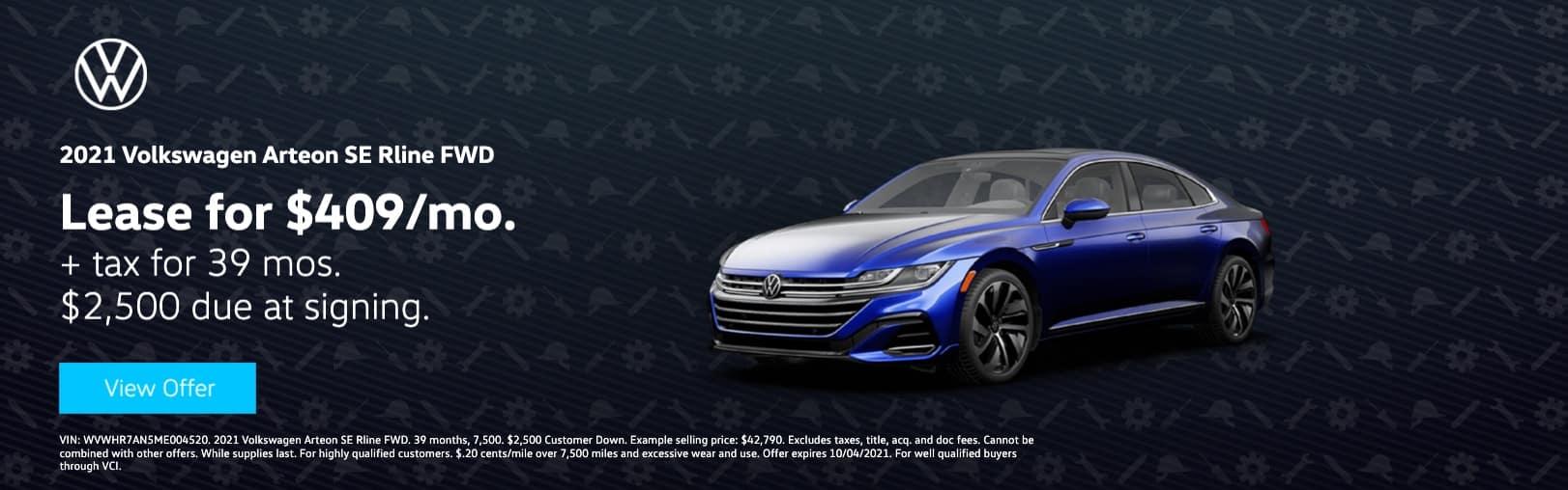 Volkswagen South Coast_test_website_wvwhr7an5me004520_1622 x 508_2021_volkswagen_arteon_se rline fwd__4