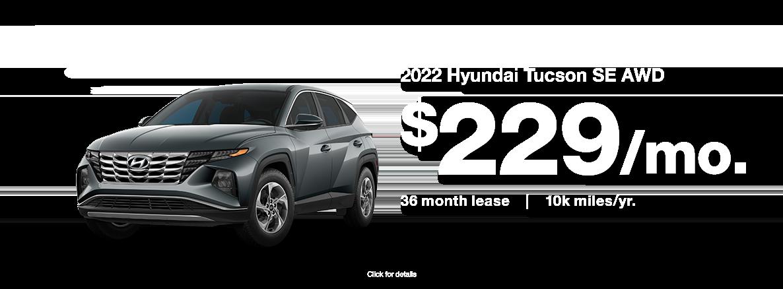 2022 Hyundai Tucson SE AWD Lease Special