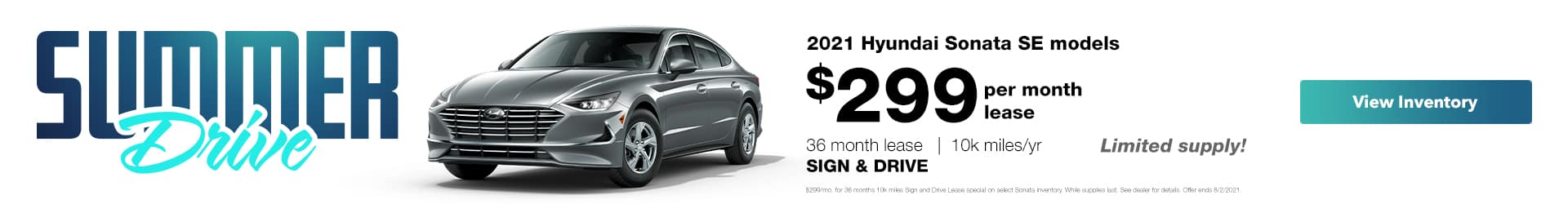 $299 a month sign and drive lease special