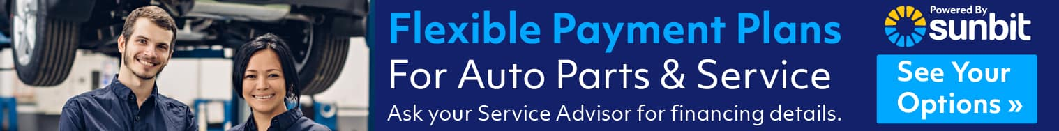 Service and Parts you can buy and pay over time