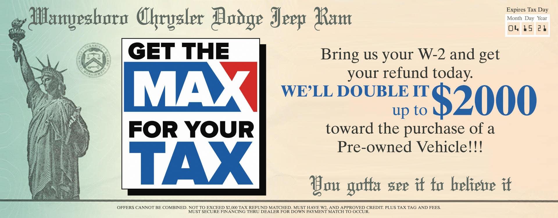 Waynesboro CDJR Tax Max Jan 2021