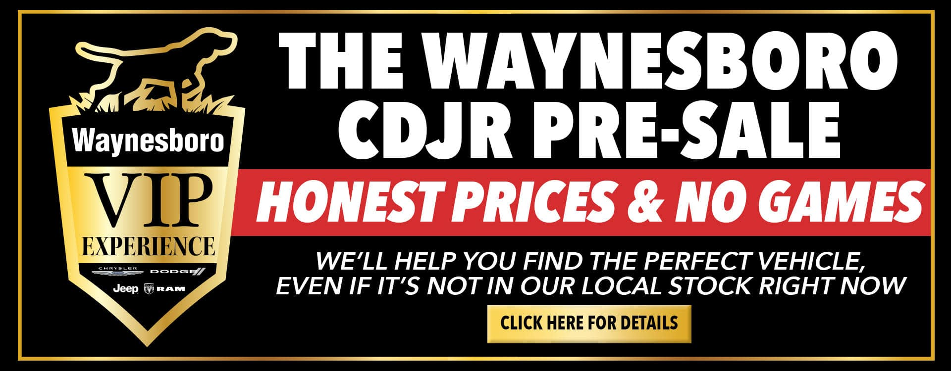 Waynesboro CDJR Pre-Sale Banner May 2021